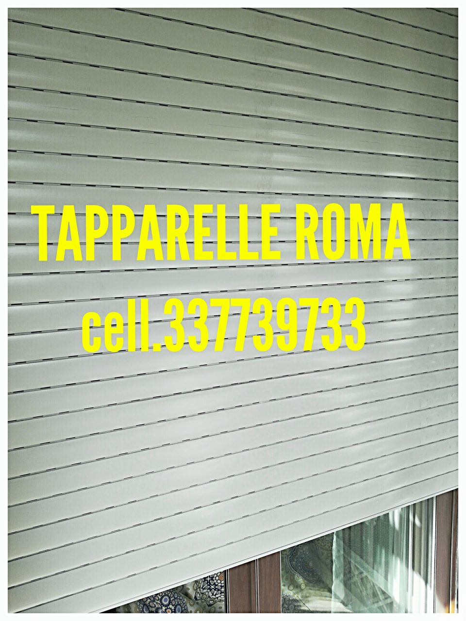 Riparazione tapparelle Fidene Nuovo Salario Roma Dario cell.337739733